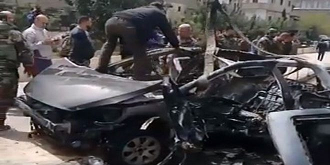 One martyred, 5 injured in a terrorist bombing at south Damascus of Syria