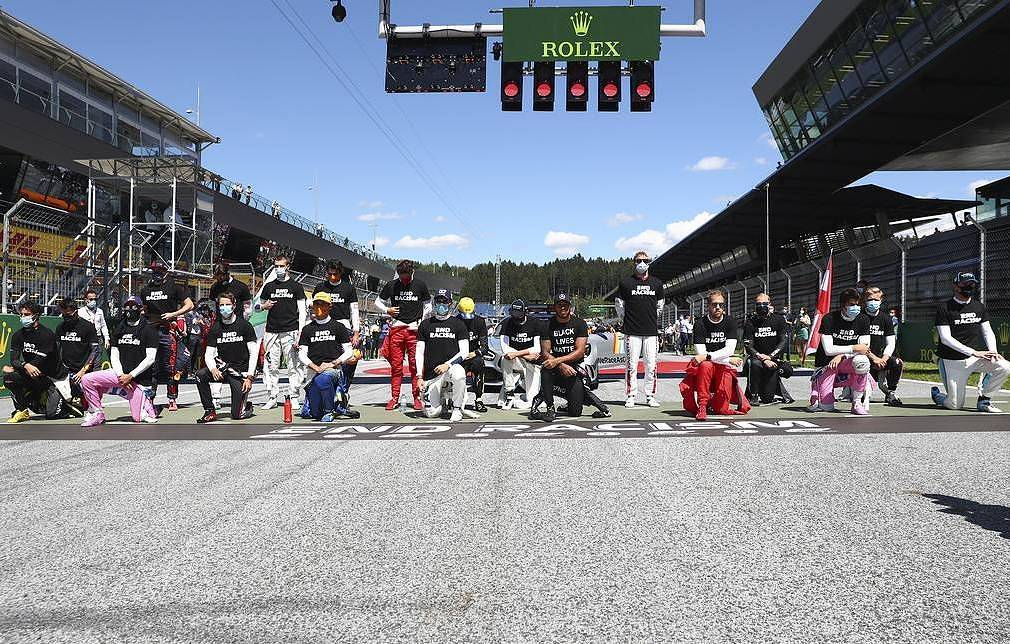 Six F1 racing drivers refuse to bend knee in protest against racism