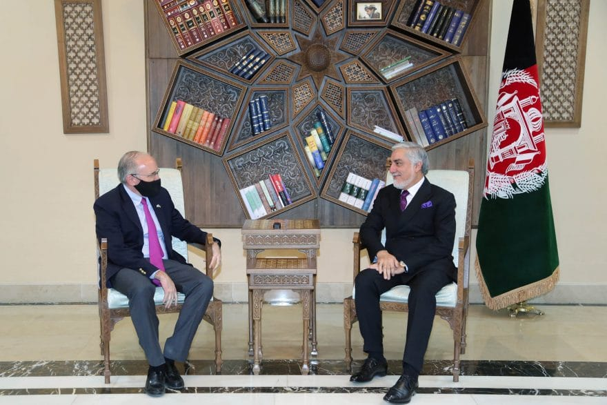 Taliban refuses 'idea of interim gov't', while Abdullah meets US embassy's DCM