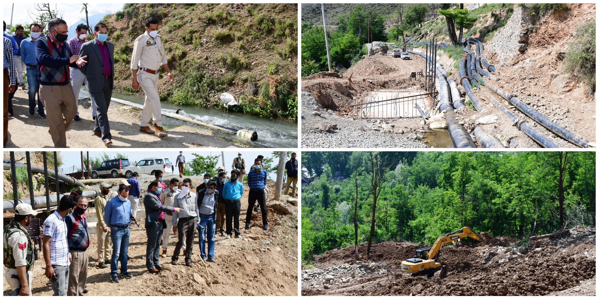 Malshahibagh Canal Breach - DDC Ganderbal takes stock of restoration work