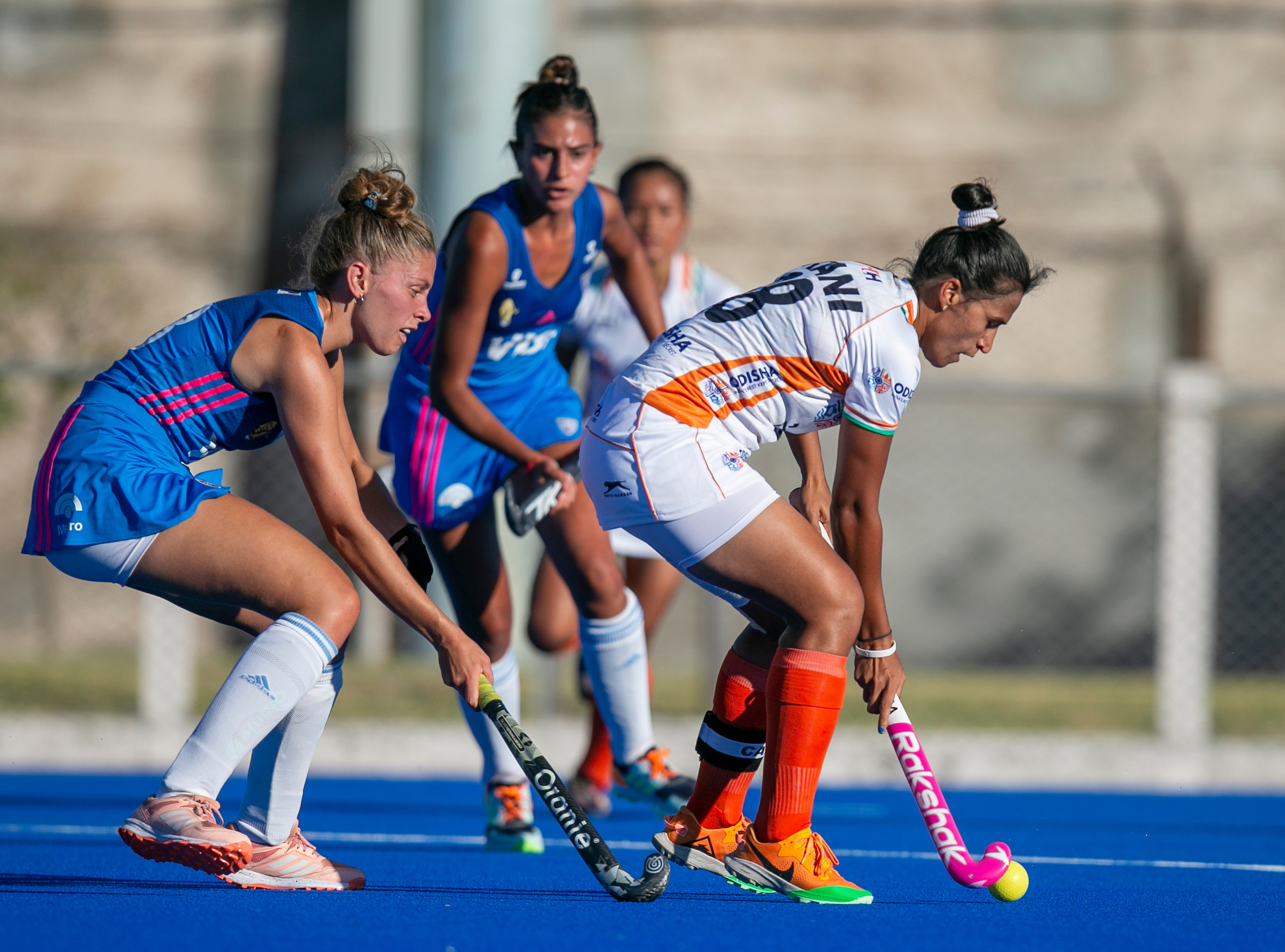 Indian Women's Hockey Team hold Argentina Junior Women 1-1