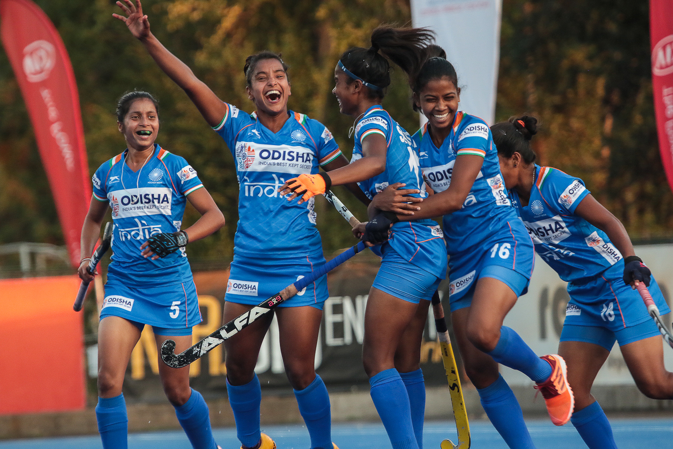 Impressive Indian Junior Women's Hockey Team beat Chile Senior Women's Team 3-2