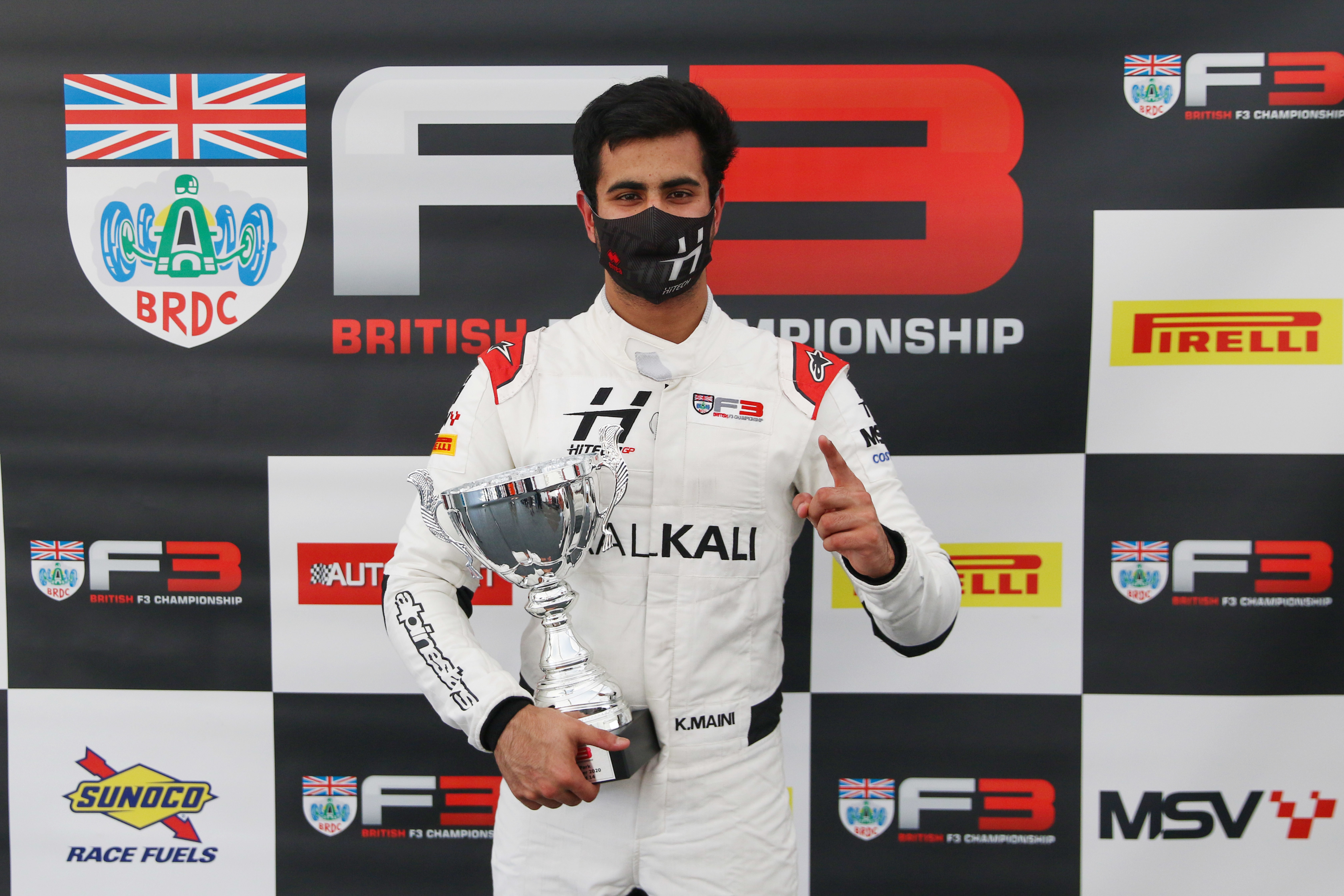 Kush Maini claimed his second win of the year in the British F3 Championship in race three at Donington Park