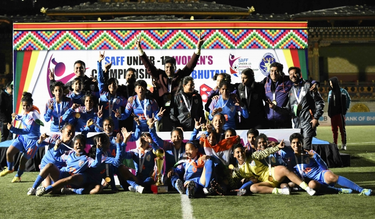 India PIP Bangladesh on Penalties to clinch SAFF U-15 Women's Championship