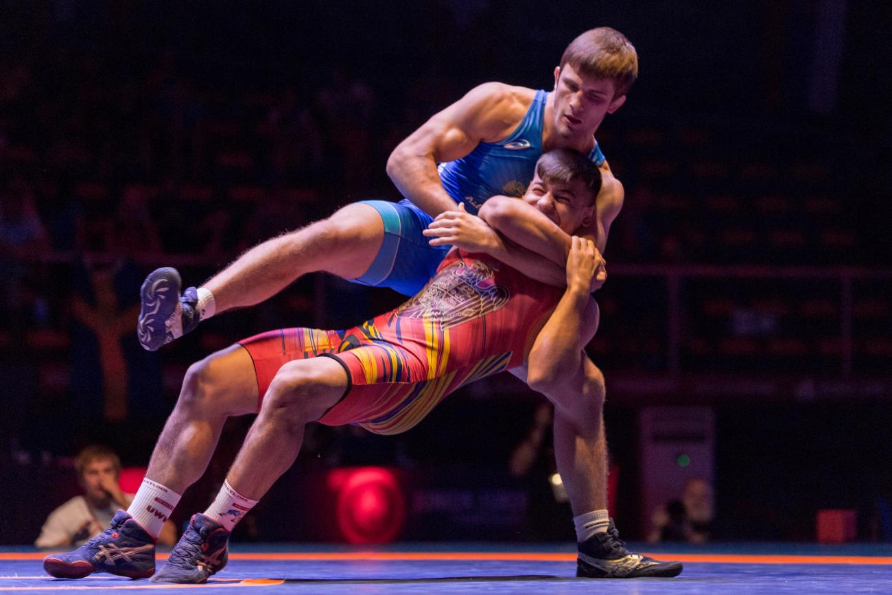 KOMAROV and TAKACS headline the 87kg Greco-Roman bracket at the U23 European Championships