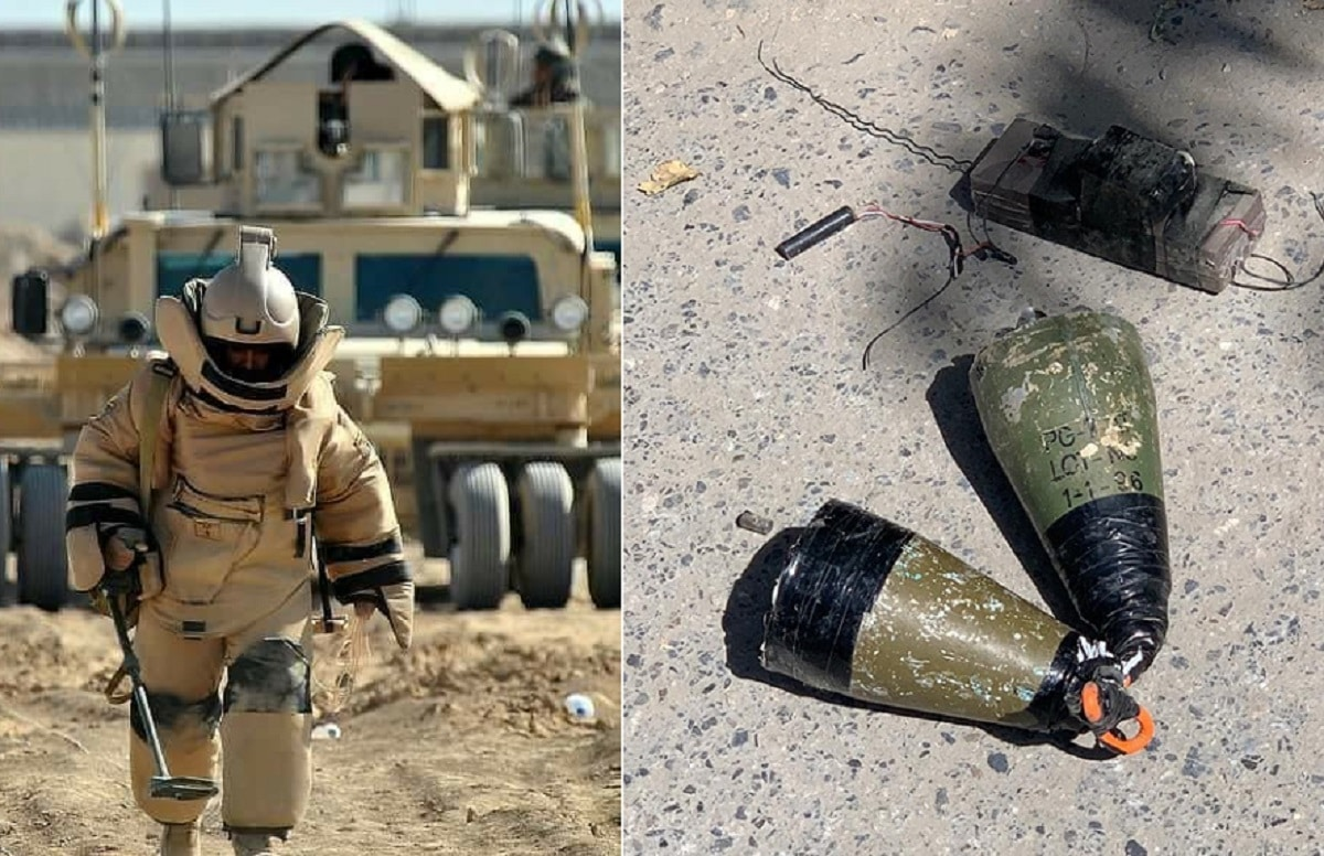 Roadside bomb defuse by Afghan forces in Kabul city