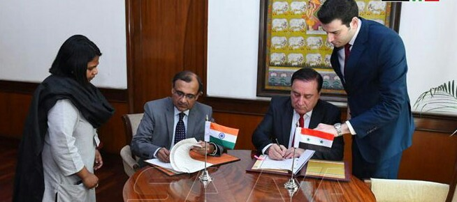 MoU signed by India and Syria on reactivating Syria-India Center of Excellence for IT at Damascus