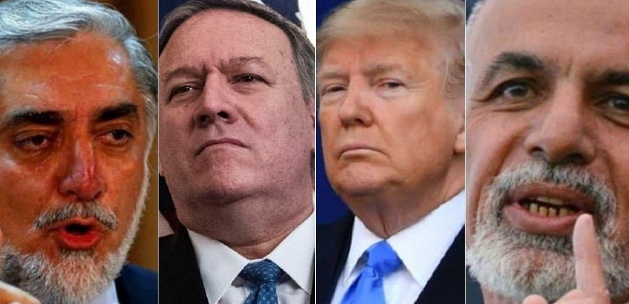 Pompeo traveled to Kabul to deliver harsh message of Trump to Ghani and Abdullah