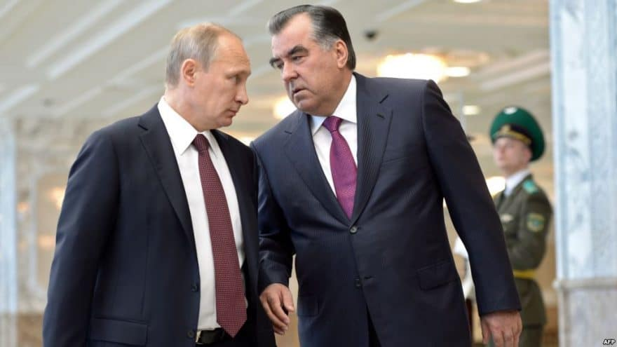 Putin, Rahmon discuss situation in Central Asia, threats emerging from Afghanistan