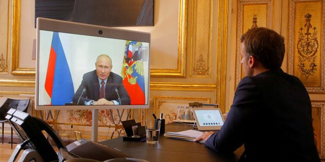 Putin, Macron stress need for fighting terrorism in Syria
