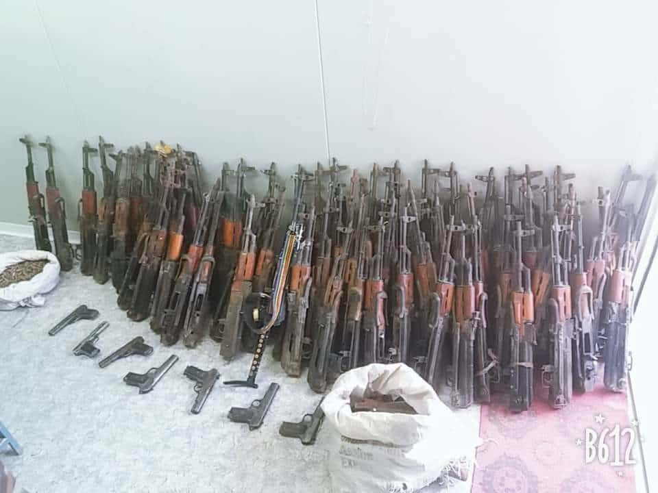 Special Forces seize up to 100 weapons of Taliban, 1000 rounds of ammunition in Logar