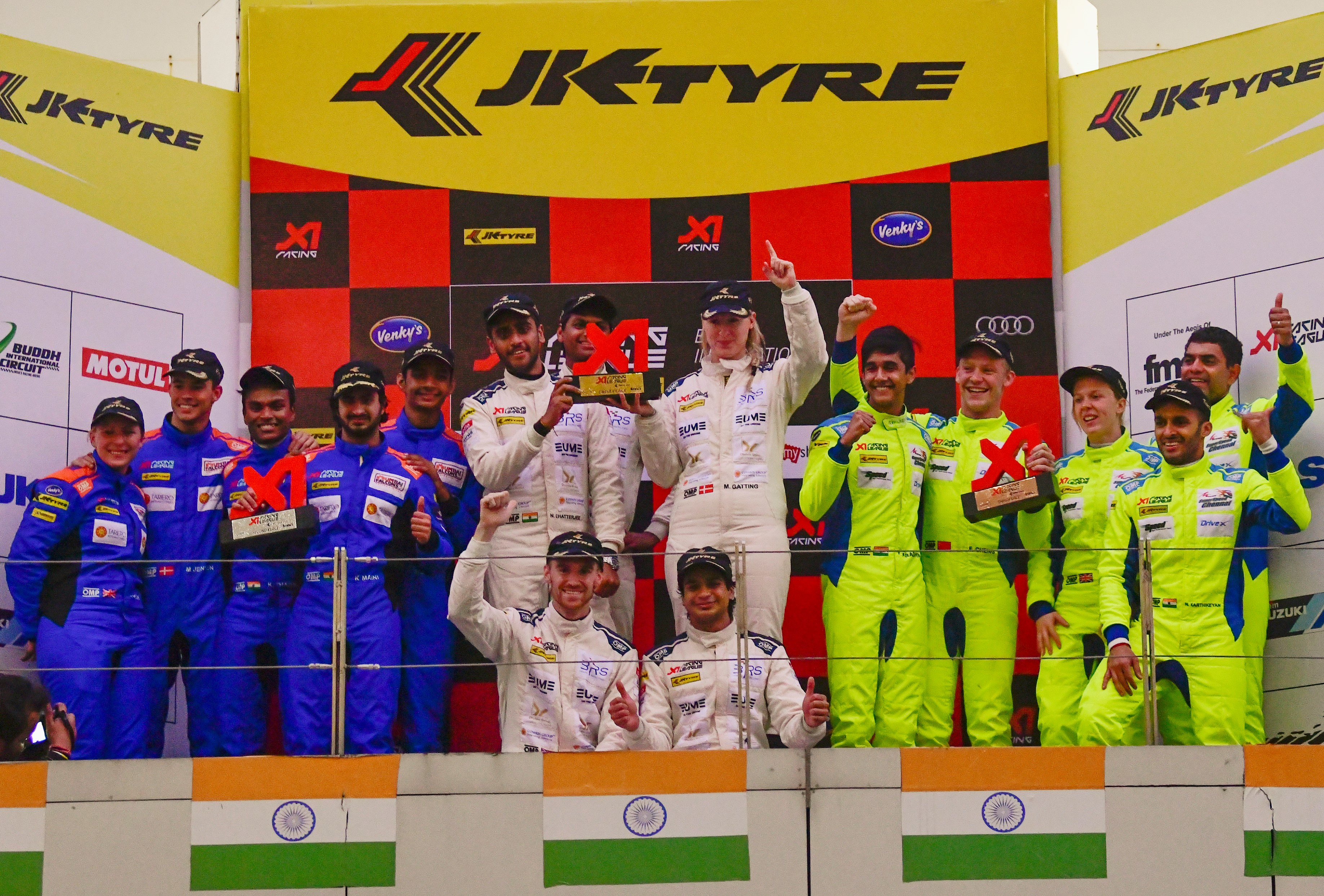 Bangalore Racing Stars and Mumbai Falcons impress in the inaugural leg of X1 Racing League held at Buddh International Circuit