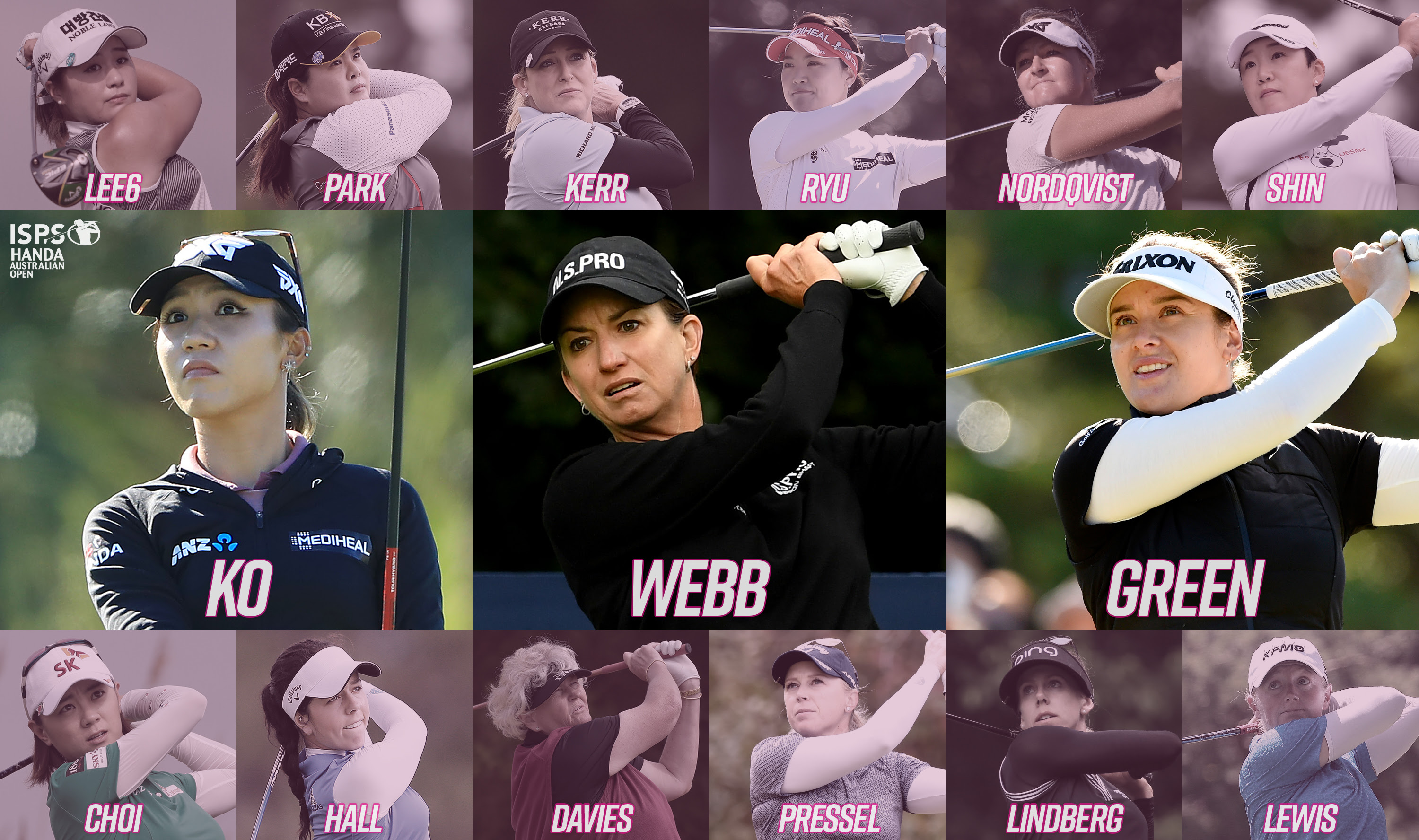 Fifteen major champions to play Women's Australian Open Golf Tournament