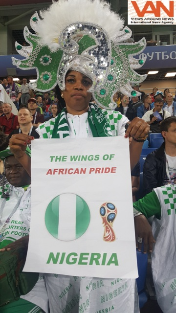 Nigerian supporters at FIFA