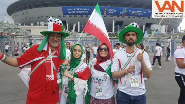 NEVER SAW FANS POURING FROM IRAN, MORACCO & KAZHGI