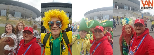 Fans fever at St Petersburg during Brazil match