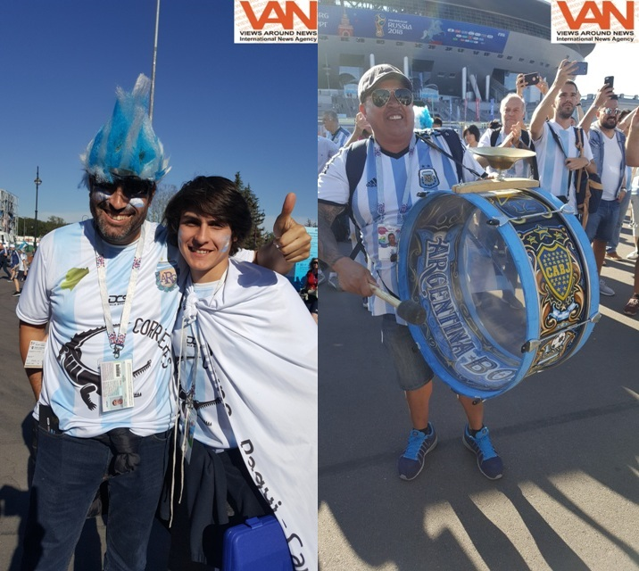 Argentina's supporters in FIFA World Cup 2018