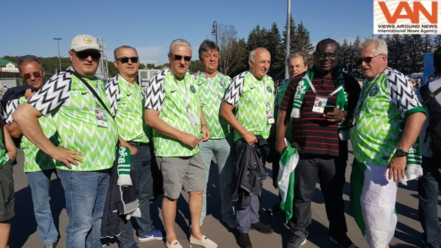 Nigerian Team supporters at FIFA 2018