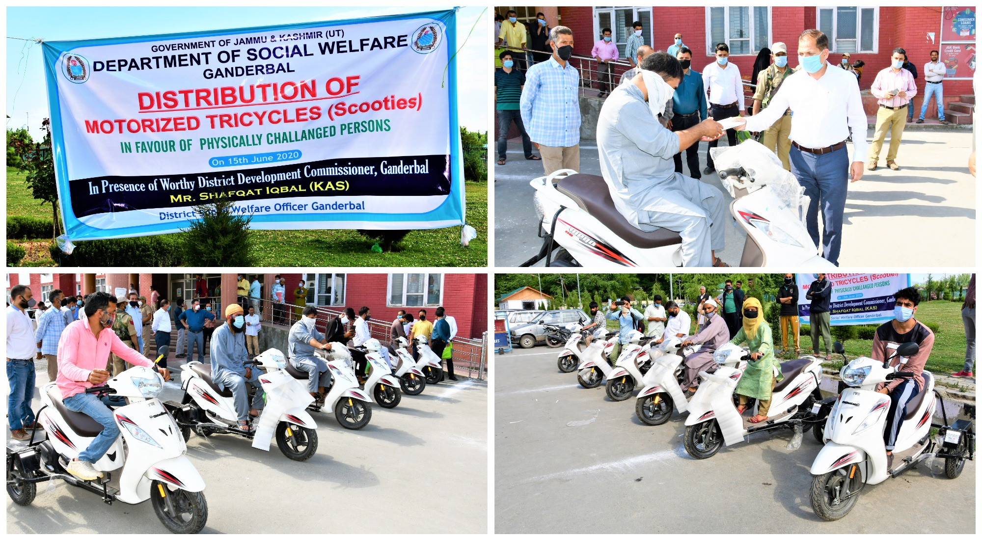 DC Ganderbal hands over scooties to specially disabled