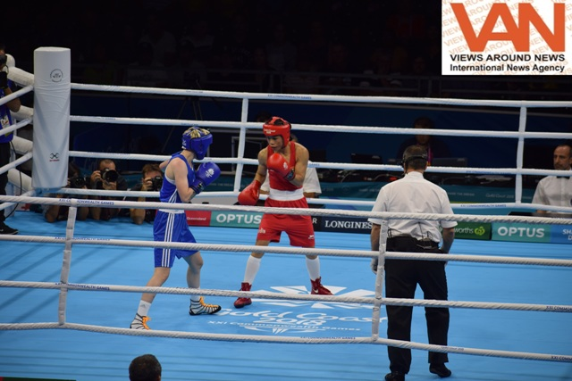 Mery Kom punches won the GOLD against Northern Ire