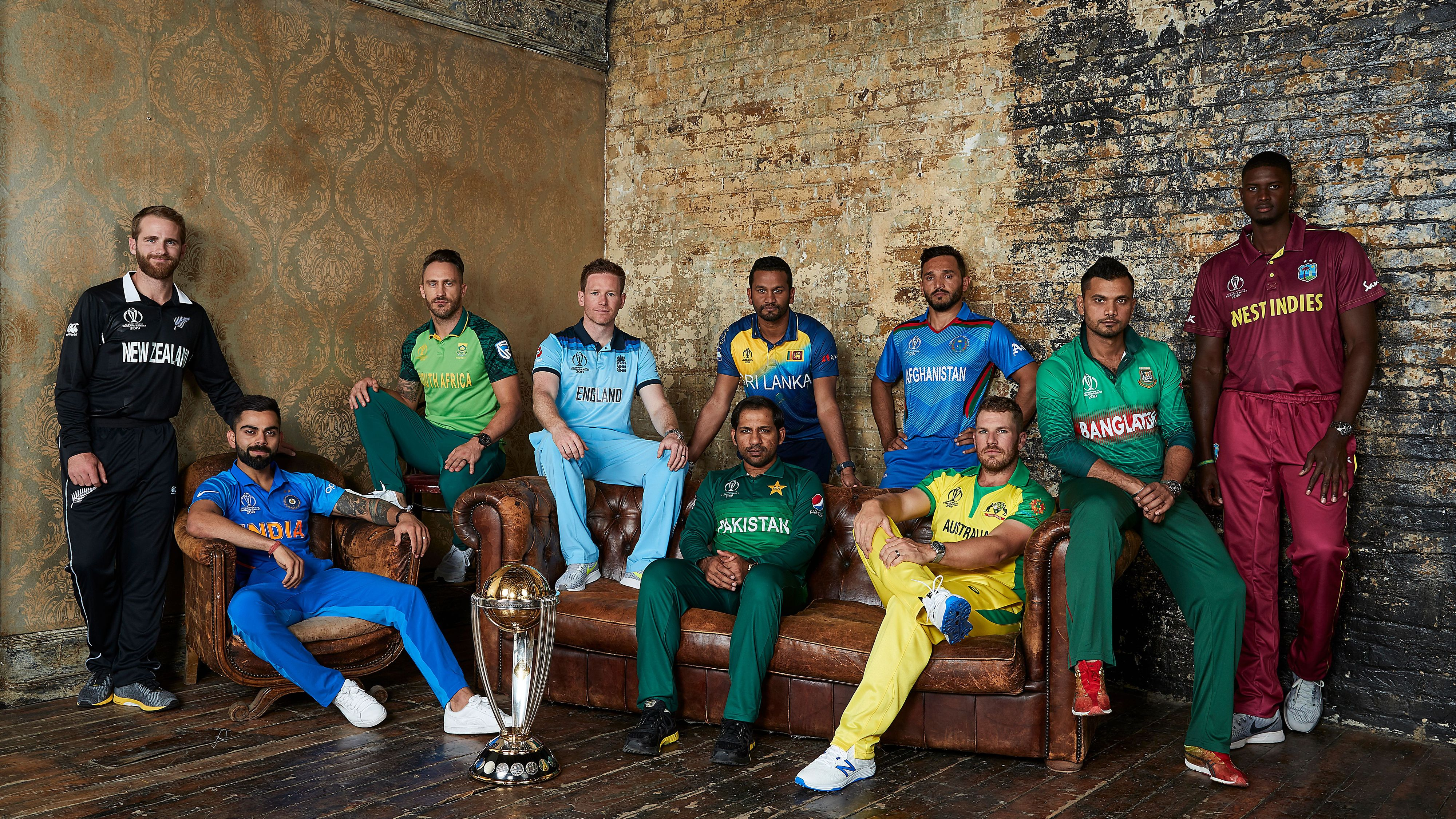 Captains of all teams of ICC Cricket World Cup 201