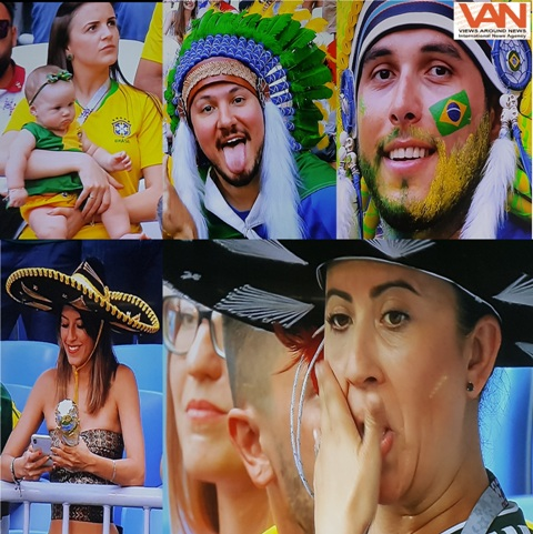 Fans fever during Brazil vs Mexico match