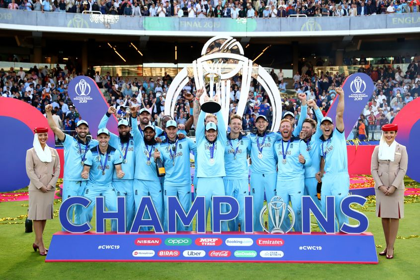Please welcome NEW CHAMPIONS of CRICKET i.e. TEAM ENGLAND