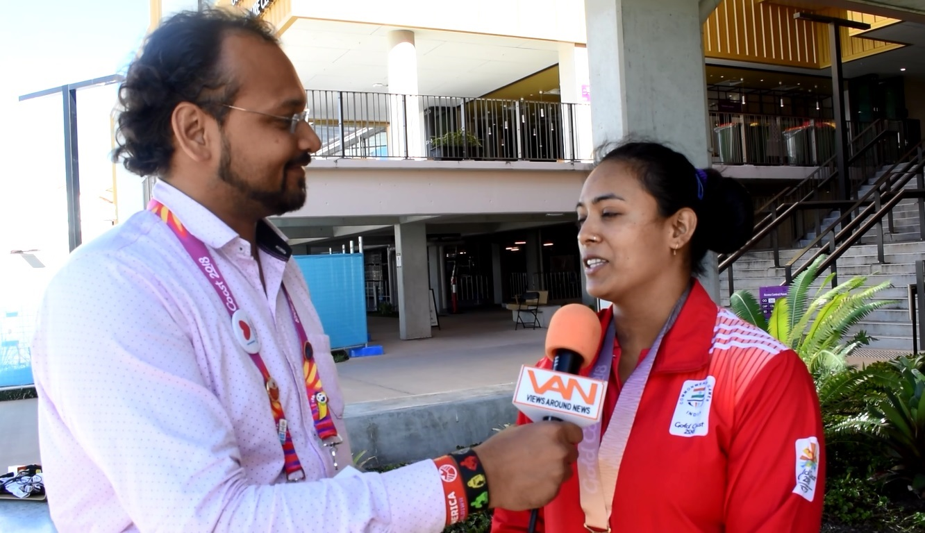 "Poonam Yadav won ""GOLD"" for India in 69kg weightli"