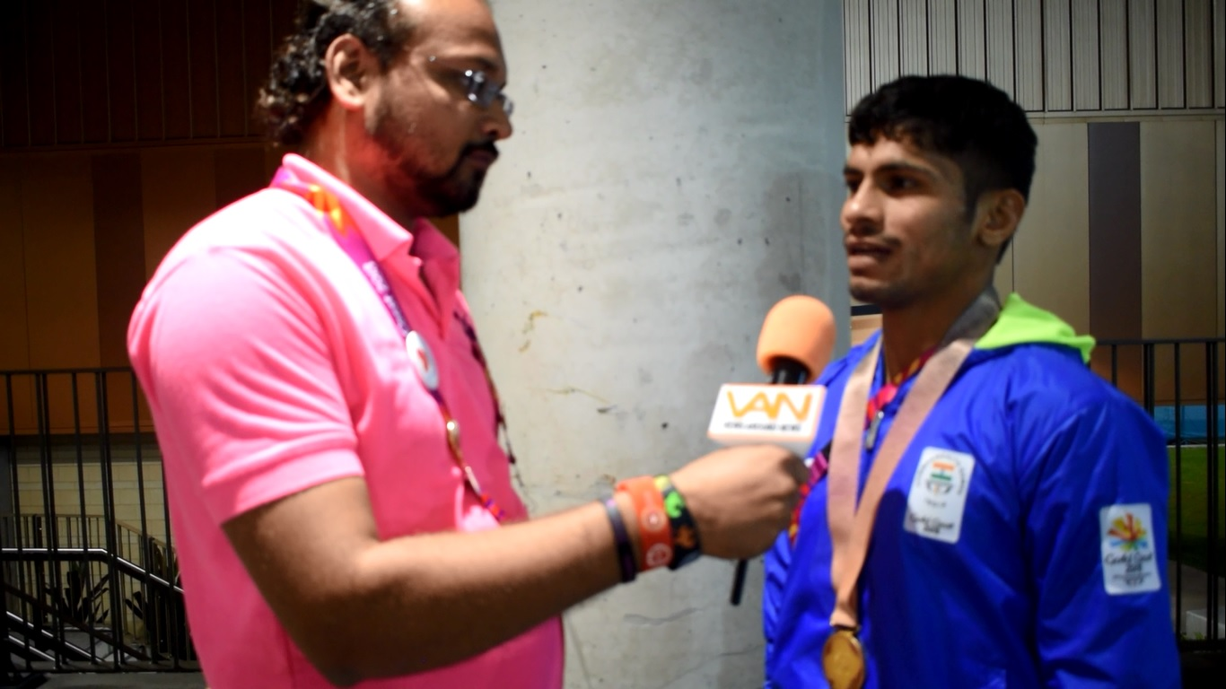 Rahul Aware won Gold in 57 kg freestyle wrestling