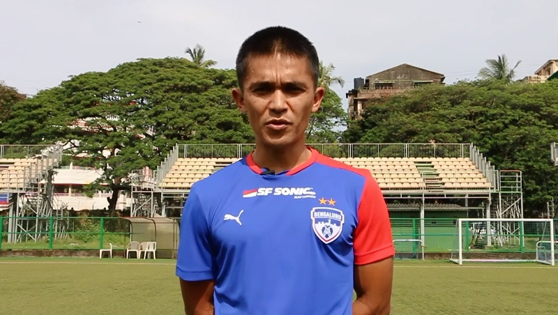What Suni Chhetri told to his supporters before In